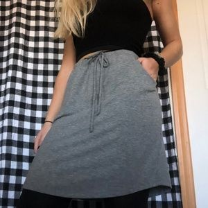 Gray Sweats Skirt Drawstring Small